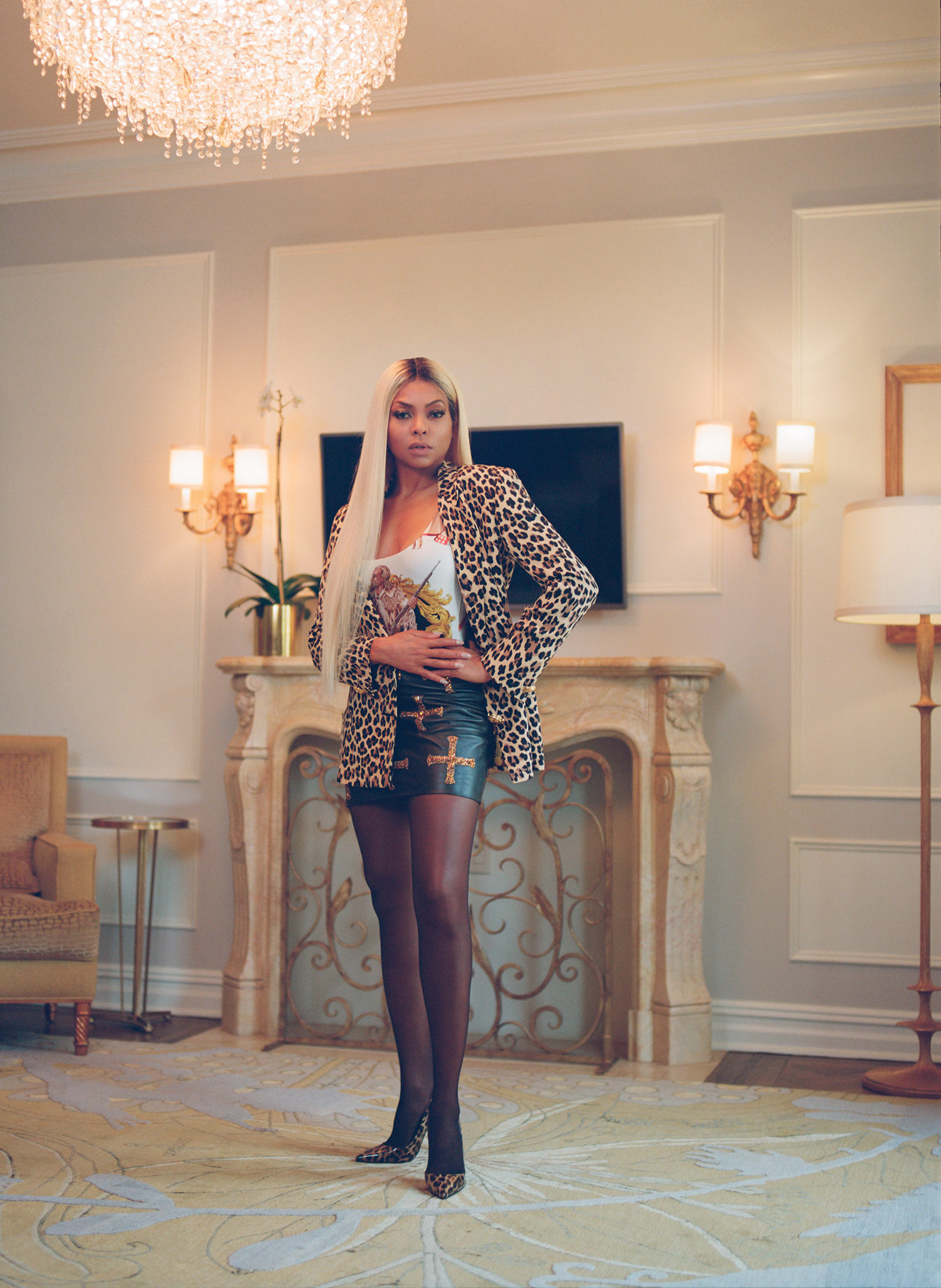 Iris Covet Book Studio Visits Ana Khouri Millenia Olivia Abstract Dress Jacket Bodysuit And Skirt Vintage Gianni Versace At My Haute Wardrobe Tights By Wolford Shoes Christian Louboutin