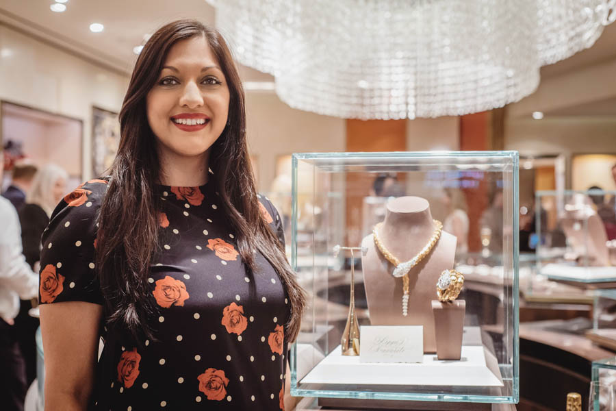 Dr. Sippi Khurana at the Bulgari Galleria in Houston attending a charity event benefiting KNOWAutism